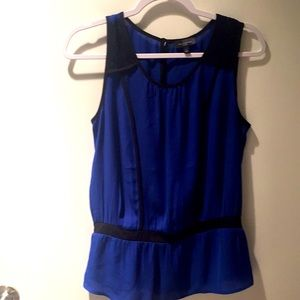 The limited, tank blouse, Blue, Black, S.